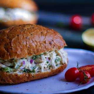 You can serve your chicken salad with different kinds of sandwich bread, or you can have it without any bread.