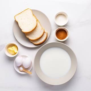 Pour the milk into a medium bowl.