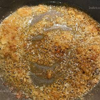 frying onion