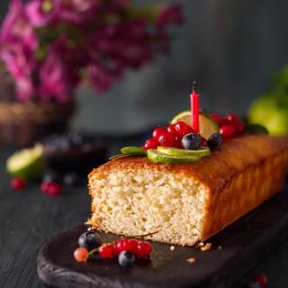 vegan Lemon Cake with Barley Flour