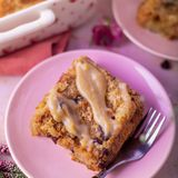 Cinnamon Raisins Bread Pudding with Homemade Sauce Recipe