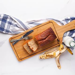 After one hour, take your banana bread out of the oven. Do the skewer test and see if it comes out clean, if so, your banana bread is ready.