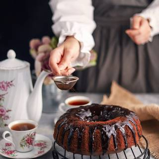 Test your cake with a wooden toothpick to make sure it is completely baked. Then take it out of the oven.