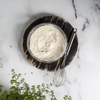 Combine flour, salt, cornflour, and baking soda in a large bowl.