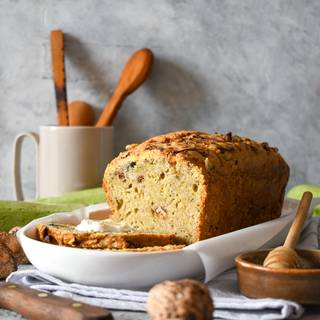 Test your cake with a toothpick to see if it's done. Now you can take it out of the oven and let it cool down for 20 minutes. You can take the cake out of the pan after it has cooled down and enjoy it.