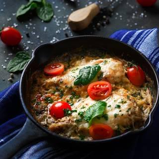 Creamy baked chicken parmesan