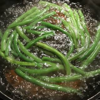 I added the green beans after 1 minute.