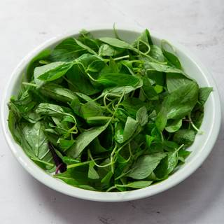 Basils are the most important ingredient in this recipe, so prepare fresh basils and wash them properly to use in your pesto sauce.