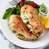 Cheesy Spinach Stuffed Chicken Breasts