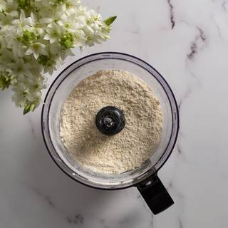 Pulse every 3 seconds 15 times. We don't want our dough to become warm by our food processor.