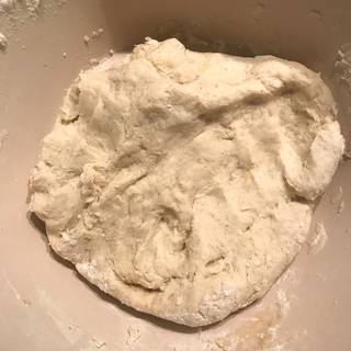knead the dough with your hands until the dough is smooth and elastic about 5 minutes.
