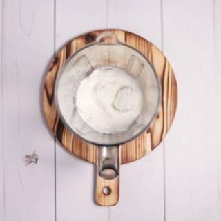 Add vanilla ice cream to the milk.
