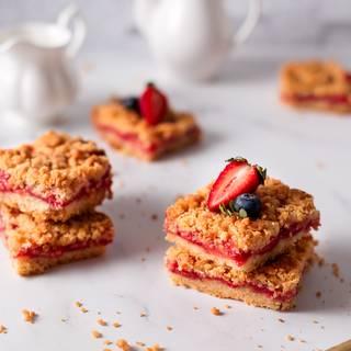 Strawberry Crumb Bars Recipe - Quick & Easy Dessert