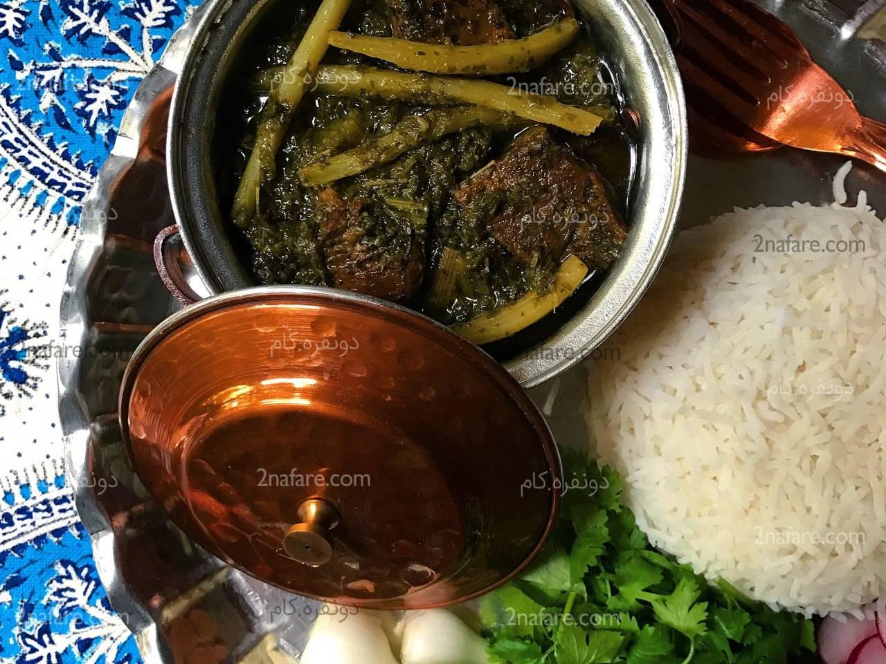 Acanthus stew (Khoresht-e Kangar)
