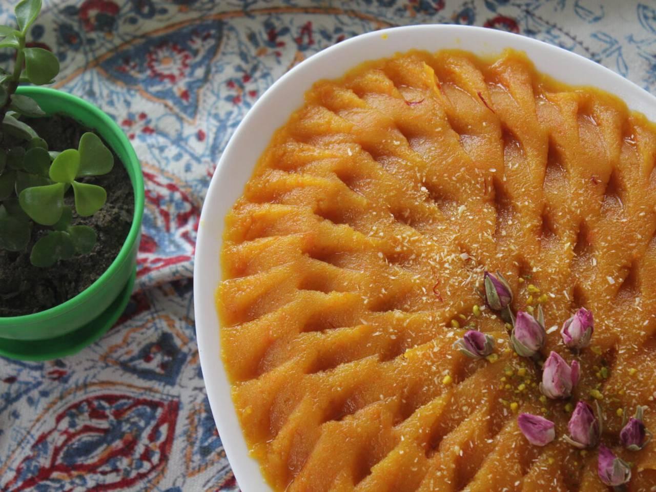 persian carrot halva