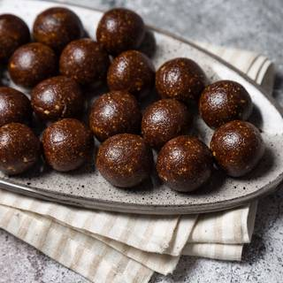 I used a spoon to make my truffles the same size. Knead one teaspoon of the dough in your hand and make a small ball.