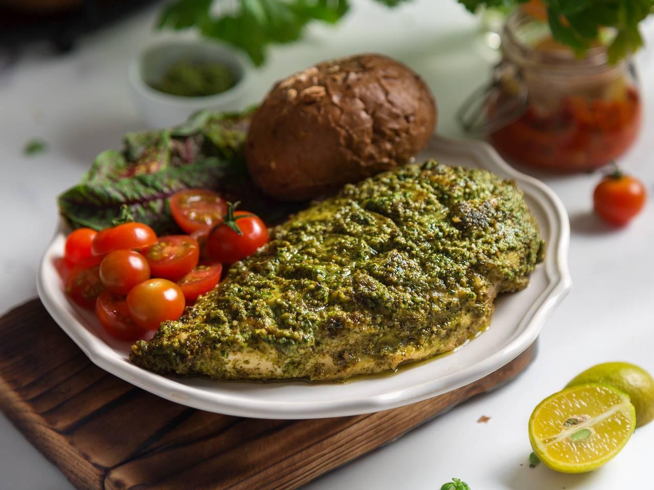 Easy Oven Baked Pesto Chicken Recipe