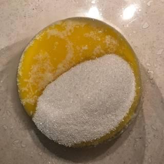 Add the sugar.