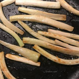 Stir-frying acanthus in butter