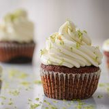 Carrot cupcake with cream cheese