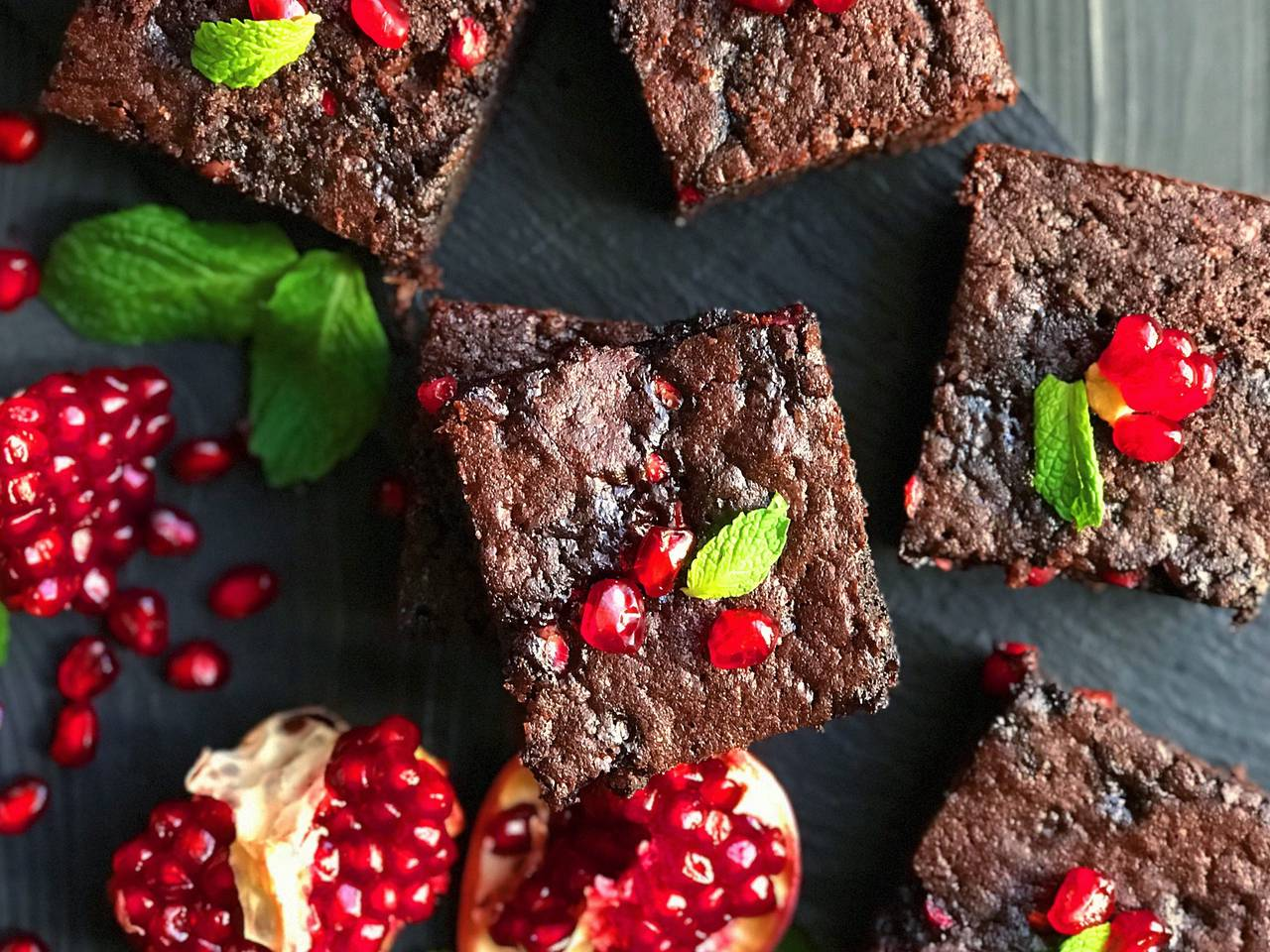 Pomegranate Brownies Recipe