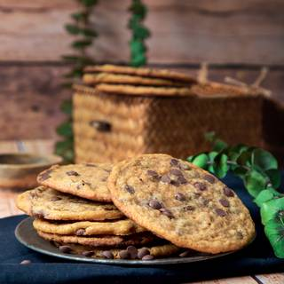 Flat and Chewy Chocolate Chip Cookies