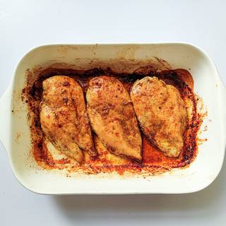 Turn the oven to 448 Fahrenheit and place the chicken in the oven and cook for about 20 minutes. Flip the chicken over twice during cooking until all the parts are cooked well.