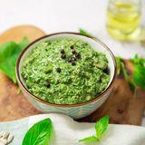 Simple Garlic and Basil Pesto Recipe