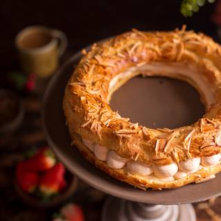 Paris-Brest With Caramel Whipped Cream