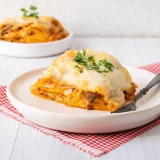 Cheesy Chicken & Mushroom Lasagna Recipe