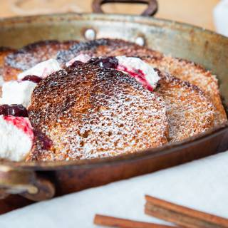 French toast' crispy texture