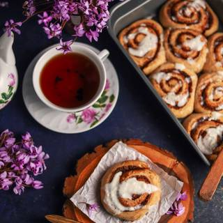 Make some cinnamon tea and enjoy it with your cinnamon rolls.