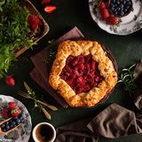 Eggless Strawberry Galette Recipe