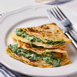 Spinach and Cheese Crepe Recipe