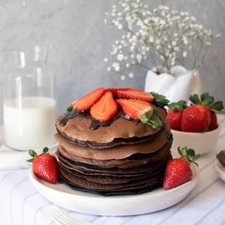Best Homemade Fluffy Chocolate Pancakes Recipe