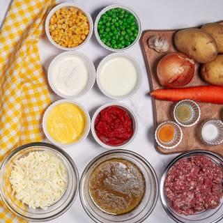 First, let's prepare the shepherd's pie ingredients.