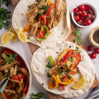 This incredible Fajita is ready and you can serve it with every bread you like.